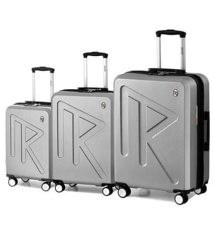 Raido komplet potovalnih kovčkov Numero Uno Silver Mood Line, srebrni