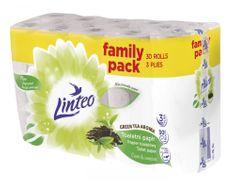 LINTEO Toaletný papier LINTEO GREEN TEA - 3-vrstvový - biely - 30 rolí
