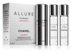 Chanel Allure Homme Sport Cologne - EDC 20 ml (újratöltő flakon) + utántöltő 2 x 20 ml