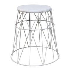 TEMPO KONDELA Príručný stolík, biela, LAVON