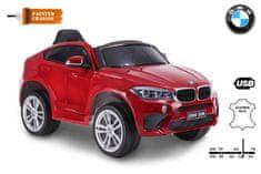 Beneo Elektrické autíčko BMW X6M NEW - jednomístné, EVA kola, kožené sedadlo, 12V, 2,4 GHz