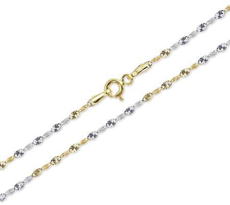 Brilio Velika zlata dvobarvna veriga 42 cm 271 115 00194 rumeno zlato 585/1000