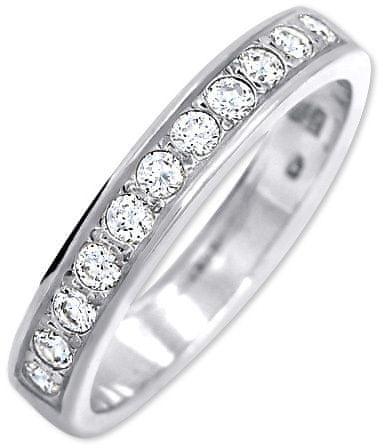 Brilio Silver Srebrni prstan s kristali 426 001 00299 04 (Vezje 48 mm) srebro 925/1000