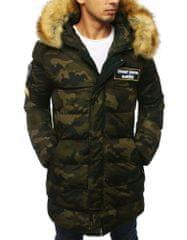 BUĎCHLAP Maskáčová zimná originálna bunda s nášivkami