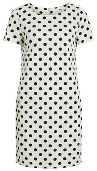 VILA Dámske šaty VITINNY NEW S / S DRESS - LUX Snow White (Veľkosť XS)