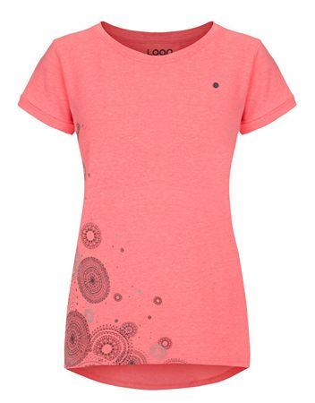 Loap Damska koszulka Anella Diva Pink Melange CLW19146-J77XJ (Wielkość S)