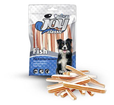 Calibra prigrizek za pse, riba, piščanec, sendvič, 80 g