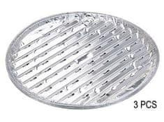tácek gril.3ks d35x1,5cm kulatý, děrovaný, Al