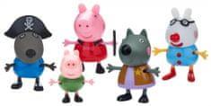 TM Toys Peppa Pig - Ruha álarcosbálba, 5 figurát tartalmazó szett