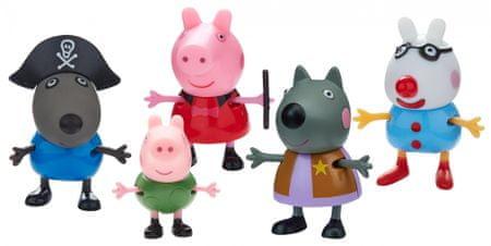 TM Toys Peppa Pig - odjeća s maskama, set 5 figura