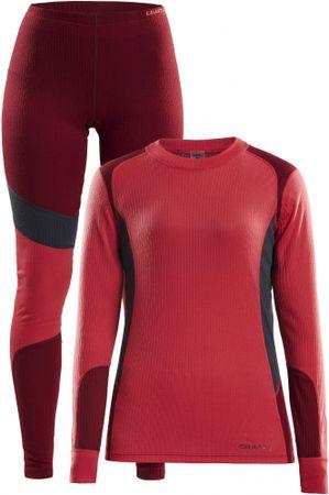 Craft Set Baselayer ženski športni komplet, rdeč/siv, L