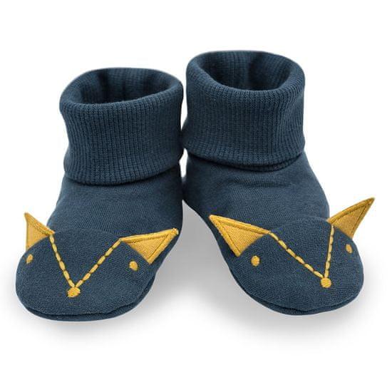 PINOKIO dětské capáčky/ponožky Secret Forest 56/62 tmavě modrá