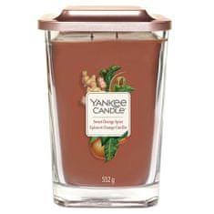 Yankee Candle Svíčka ve skleněné váze , Sladký pomeranč a koření, 552 g