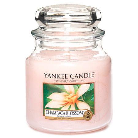 Yankee Candle gyertya üvegedénybe, Magnólia virág champaca, 410 g