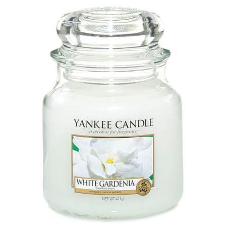 Yankee Candle gyertya üvegedénybe, Fehér gardénia, 410 g