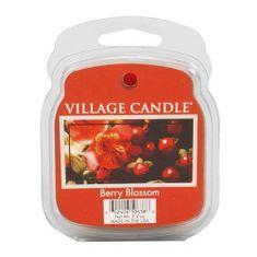 Village Candle Dišeča voska vaška sveča, Rdeče rože, 62 g