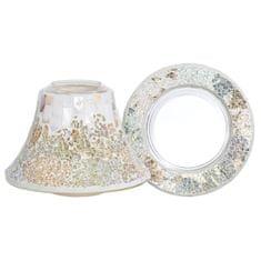 Yankee Candle Dárková sada , Velký talířek + stínítko, perleťově-zlatá mozaika