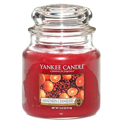 Yankee Candle Svíčka ve skleněné dóze , Mandarinky s brusinkami, 410 g