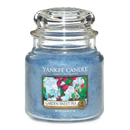 Yankee Candle gyertya üvegedénybe, Kerti virágok, 410 g