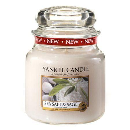 Yankee Candle Gyertya egy üvegedénybe a Yankee gyertyát, Tengeri só és zsálya, 410 g