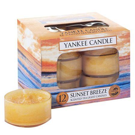 Yankee Candle Yankee gyertya tea gyertyák, Szellő naplementekor, 12 db