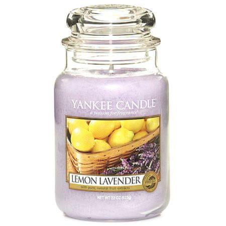 Yankee Candle gyertya üvegedénybe, Citrom és levandula, 623 g