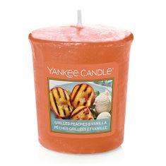 Yankee Candle Świeca Yankee, Grillowane brzoskwinie i wanilia, 49 g