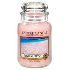 Yankee Candle gyertya üvegedénybe, Rózsaszín homok, 623 g