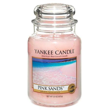 Yankee Candle Świeca w szklanym słoju Świeca Yankee, Różowe piaski, 623 g