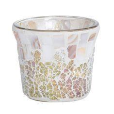 Yankee Candle Świecznik szklany , Perłowo-złote, na wotywną świecę