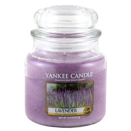 Yankee Candle Świeca w szklanym słoju Świeca Yankee, Lawenda, 410 g