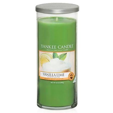 Yankee Candle Sveča v steklenem cilindru , Vanilija z vodnim kamnom, 566 g