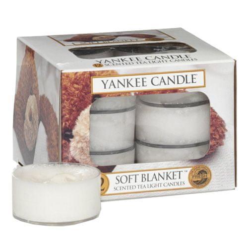 Yankee Candle Sviečky čajové , Jemná prikrívka, 12 ks