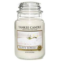 Yankee Candle gyertya üvegedénybe, Bolyhos törülközők, 623 g