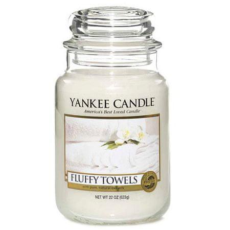 Yankee Candle Świeca w szklanym słoju Świeca Yankee, Puszyste ręczniki, 623 g