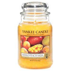 Yankee Candle gyertya üvegedénybe, Mangó és őszibarack salsa, 623 g