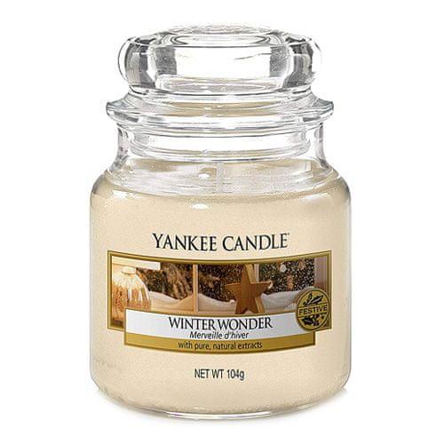 Yankee Candle Sviečka v sklenenej dóze , Zimný zázrak, 104 g