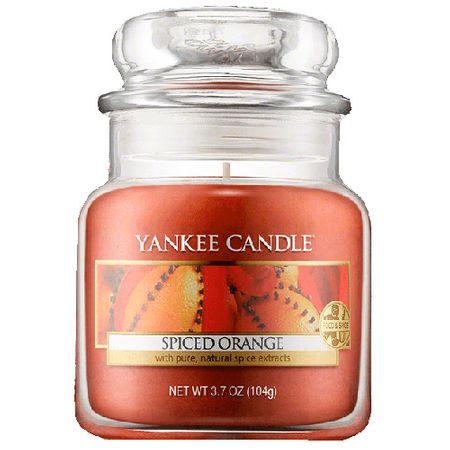 Yankee Candle Svíčka ve skleněné dóze , Pomeranč se špetkou koření, 104 g