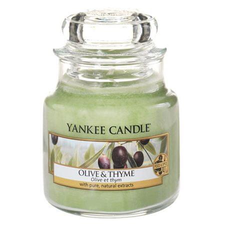 Yankee Candle Świeca w szklanym słoju Świeca Yankee, Oliwki i tymianek, 104 g