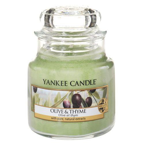 Yankee Candle Sviečka v sklenenej dóze , Olivy a tymián, 104 g