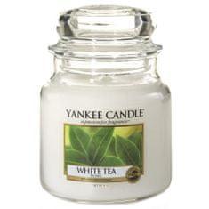 Yankee Candle Świeca w szklanym słoju Świeca Yankee, Biała herbata, 410 g