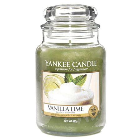 Yankee Candle Świeca w szklanym słoju Świeca Yankee, Wanilia z limonkami, 623 g