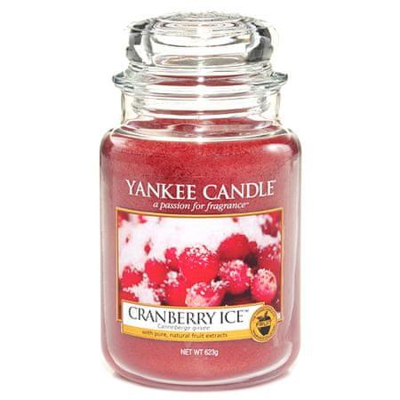Yankee Candle gyertya üvegedénybe, Jeges vörös áfonya, 623 g
