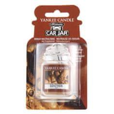 Yankee Candle Osvěžovač do auta , Vůně kůže, 1x visačka