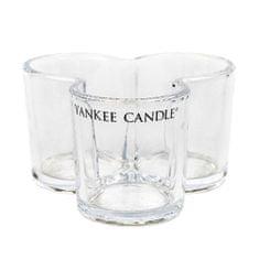 Yankee Candle Świecznik szklany , Shamrock, na 3 świece, przezroczyste szkło