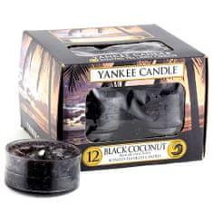 Yankee Candle Svíčky čajové , Černý kokos, 12 ks