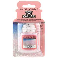 Yankee Candle Osvěžovač do auta , Růžové písky, 1x visačka