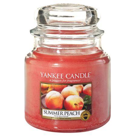 Yankee Candle Świeca w szklanym słoju Świeca Yankee, Letnia brzoskwinia, 410 g