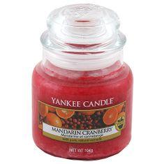 Yankee Candle Svíčka ve skleněné dóze , Mandarinky s brusinkami, 104 g