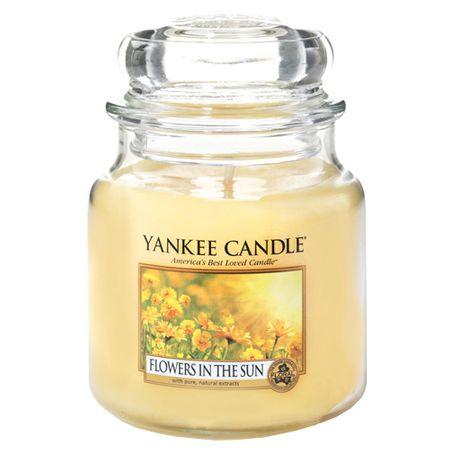 Yankee Candle Sveča v steklenem kozarcu , Rože na soncu, 410 g